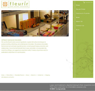 Website for Consumer 'fleurir' Using PHP – Online Chocolates Store