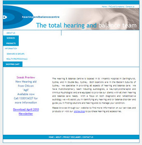 Website for Medical 'HearingBalance' Using PHP- Hearing Solutions