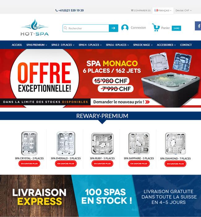 Enhancement of an Online Spa Store, Switzerland - Hot Spa