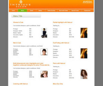 Website for Consumer 'Intrigue Salon' Using PHP – Salon Services