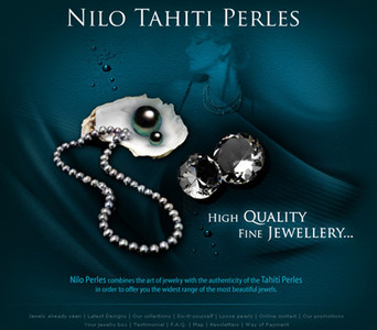 PHP Based eCommerce Website for Jewelry Products - Nilo Tahiti Pearls