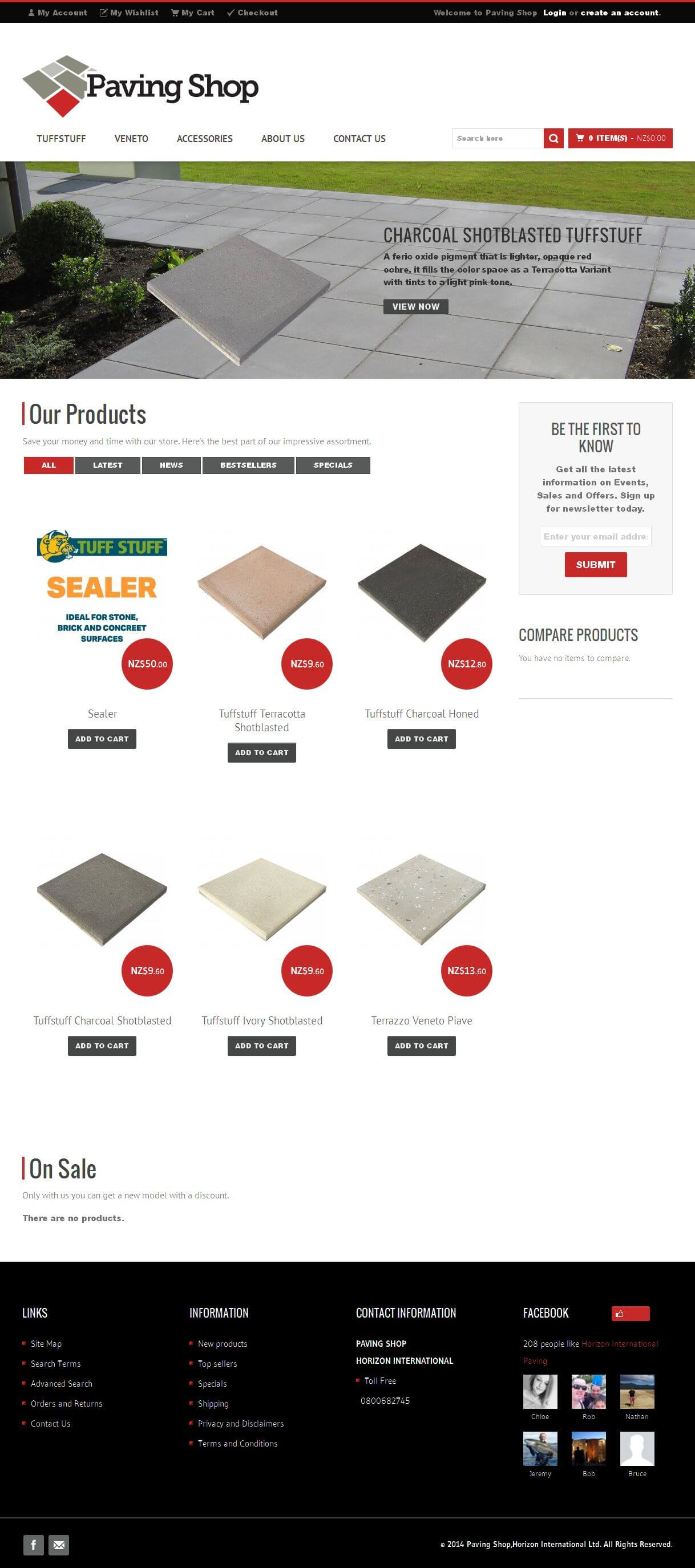Maintenance of Magento Powered Website for Paving Products