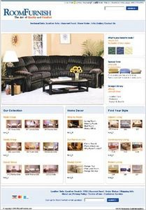 Website for Online Home Decorating Store 'RoomFurnish' Using PHP
