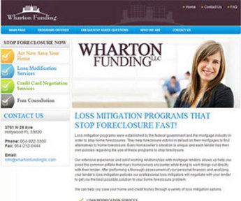 Website for Finance 'Wharton Funding LLC' Using PHP - Mortgage Broker