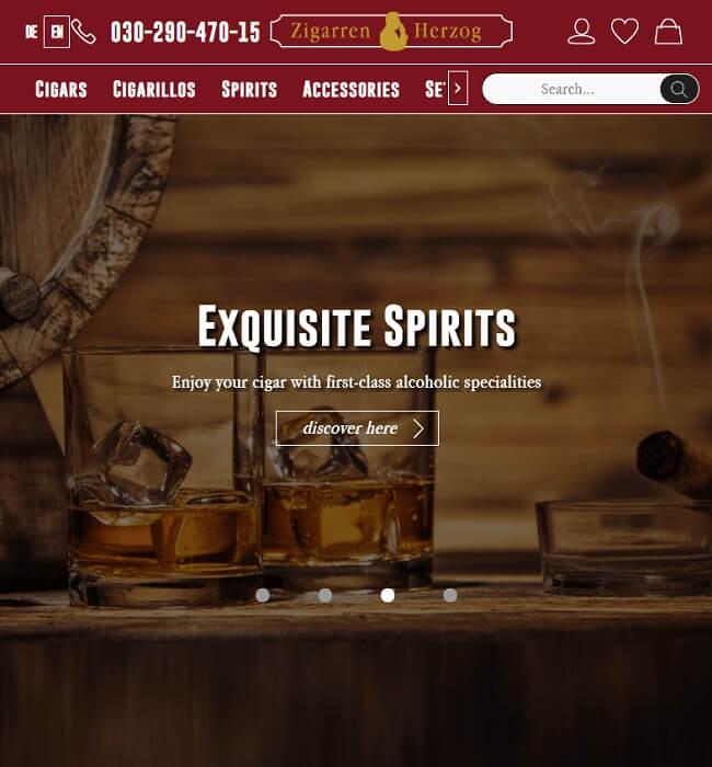 eCommerce Website Maintenance for Cigar Industry, Germany - Zigarren Herzog