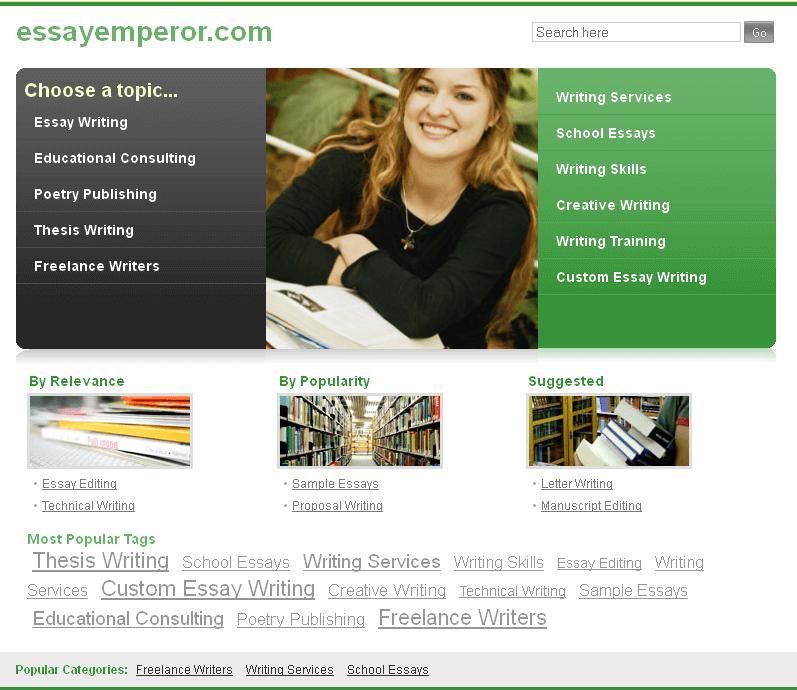 Development of Essay Emperor Website