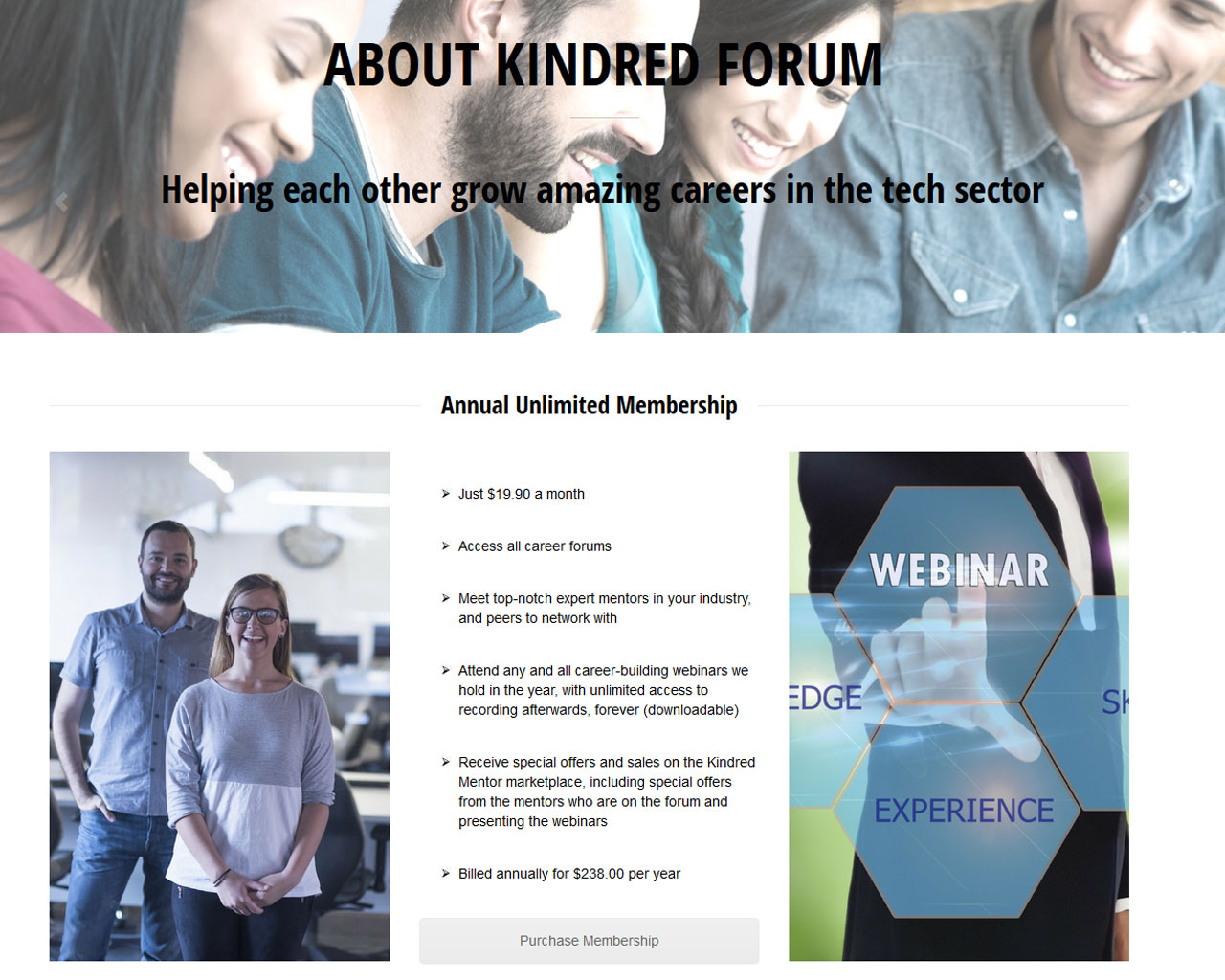 Development of  A WordPress Powered Website For Career Mentorship
