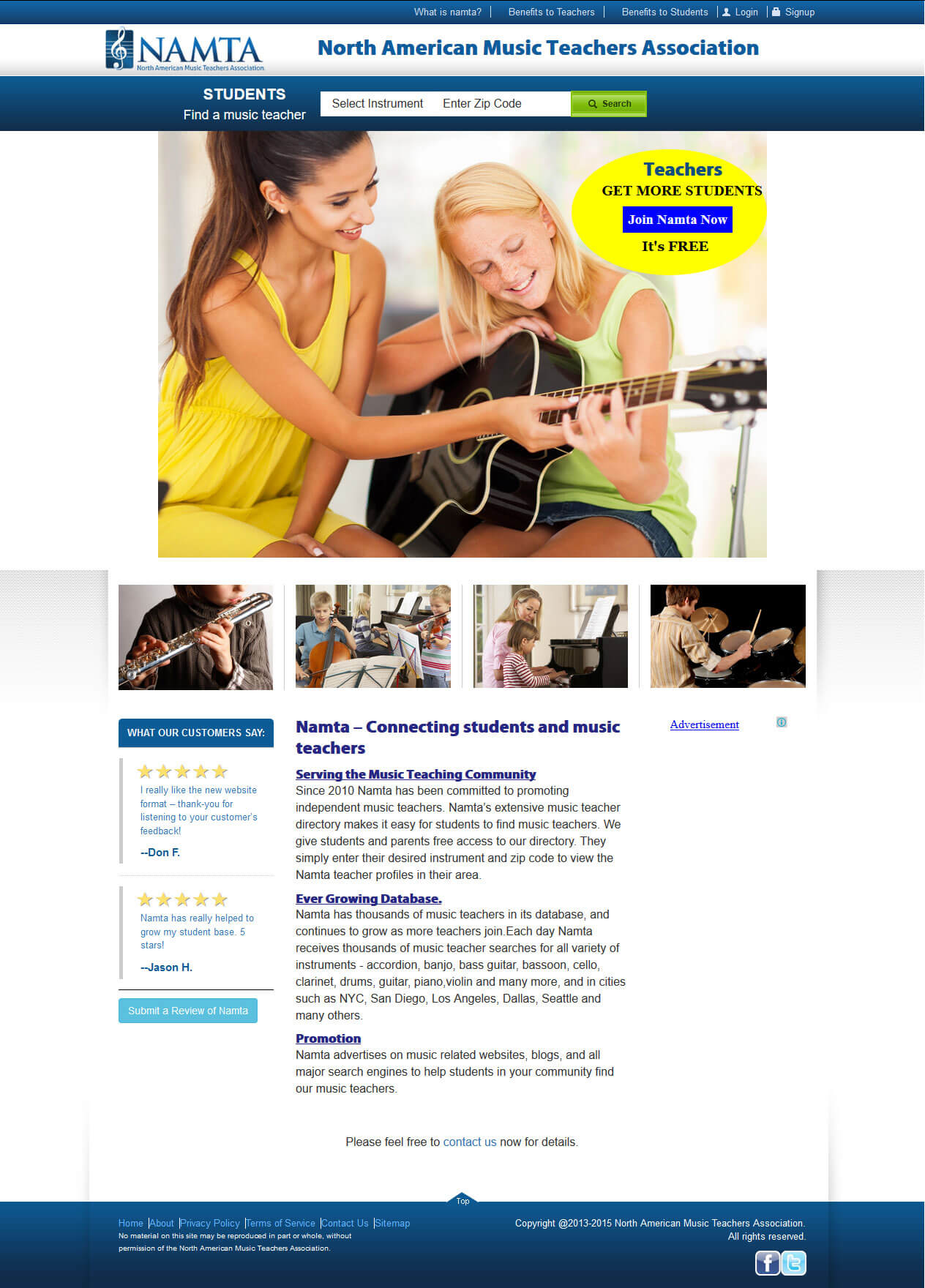 A PHP-Based Website to Connect Students and Music Teachers