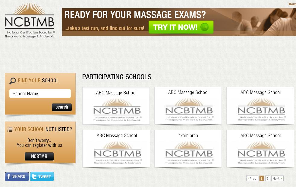 PHP Website for Education 'NCBTMB' – Board Exam Preparation Platform