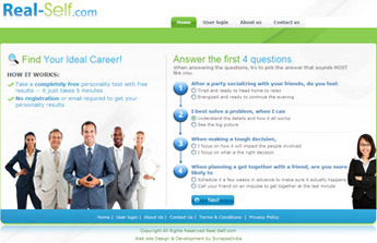 PHP Website for Education 'Real Self' – Career Guidance