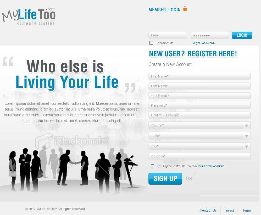 PHP Website for 'mylifetoo' – Social Networking Platform