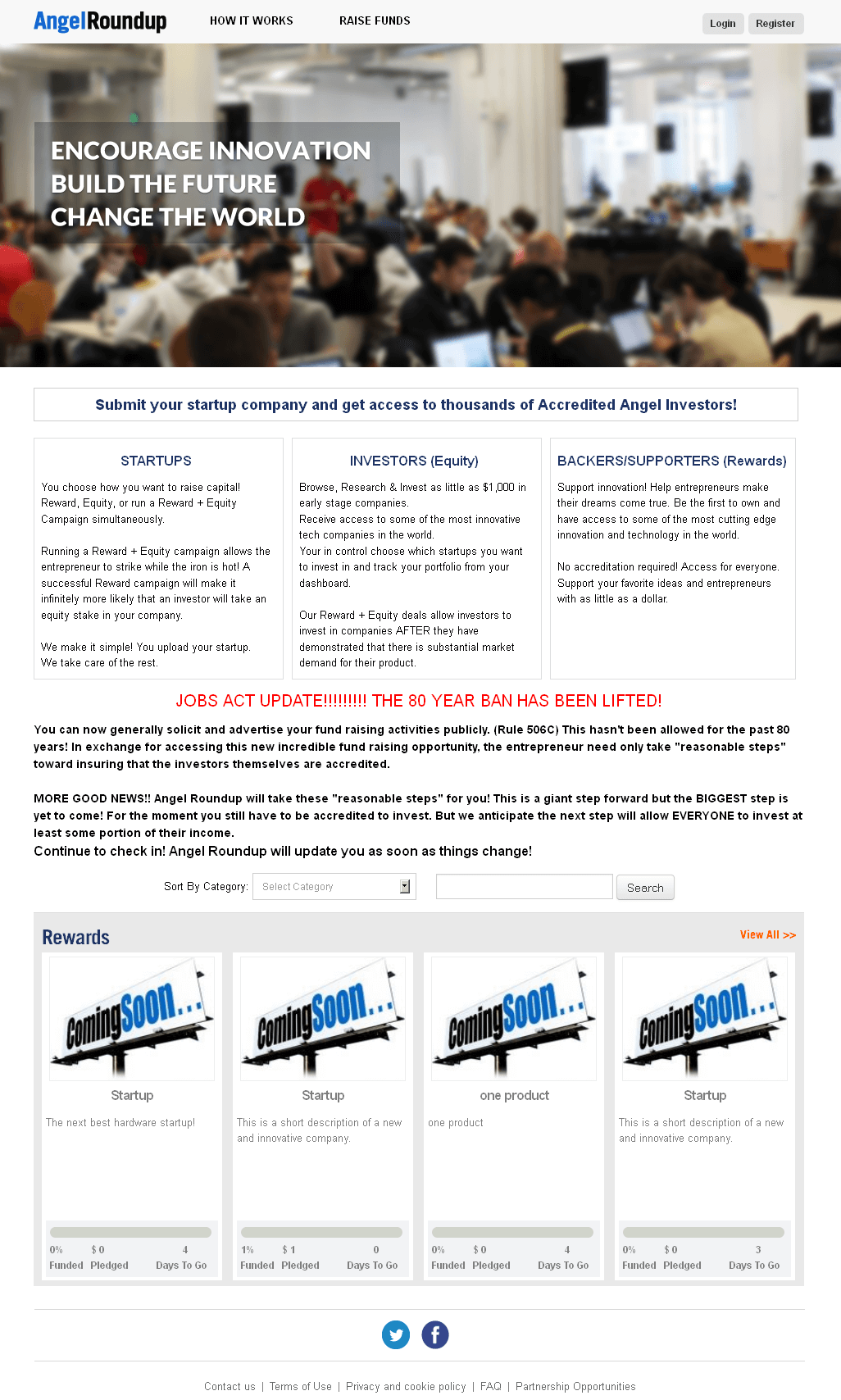 Development of a Crowd Funding Website