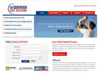 PHP Website for 'CDS' – Debt Settlement Consulting Firm