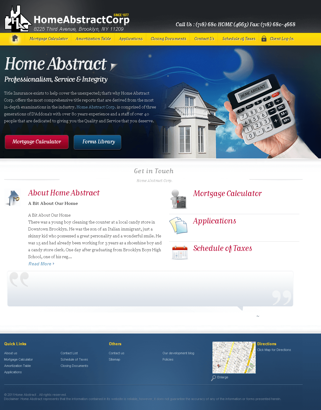 A Website for a Financial Advisory Organization