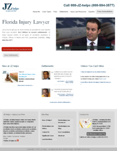 PHP Website for Legal 'Justin Ziegler' – Injury Law Firm