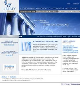 PHP Website for 'Liberty Gateway' – Investment Services