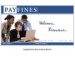 PHP Website for 'Payfines' – Pay Traffic Violations Fines Online