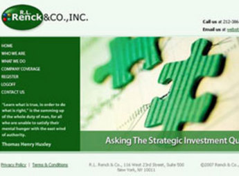 PHP Website for Investment Firm 'Renck & CO., Inc.'