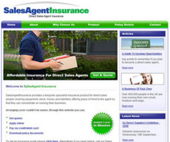 PHP Website for Professional Indemnity & Liability Insurance 'SAI'