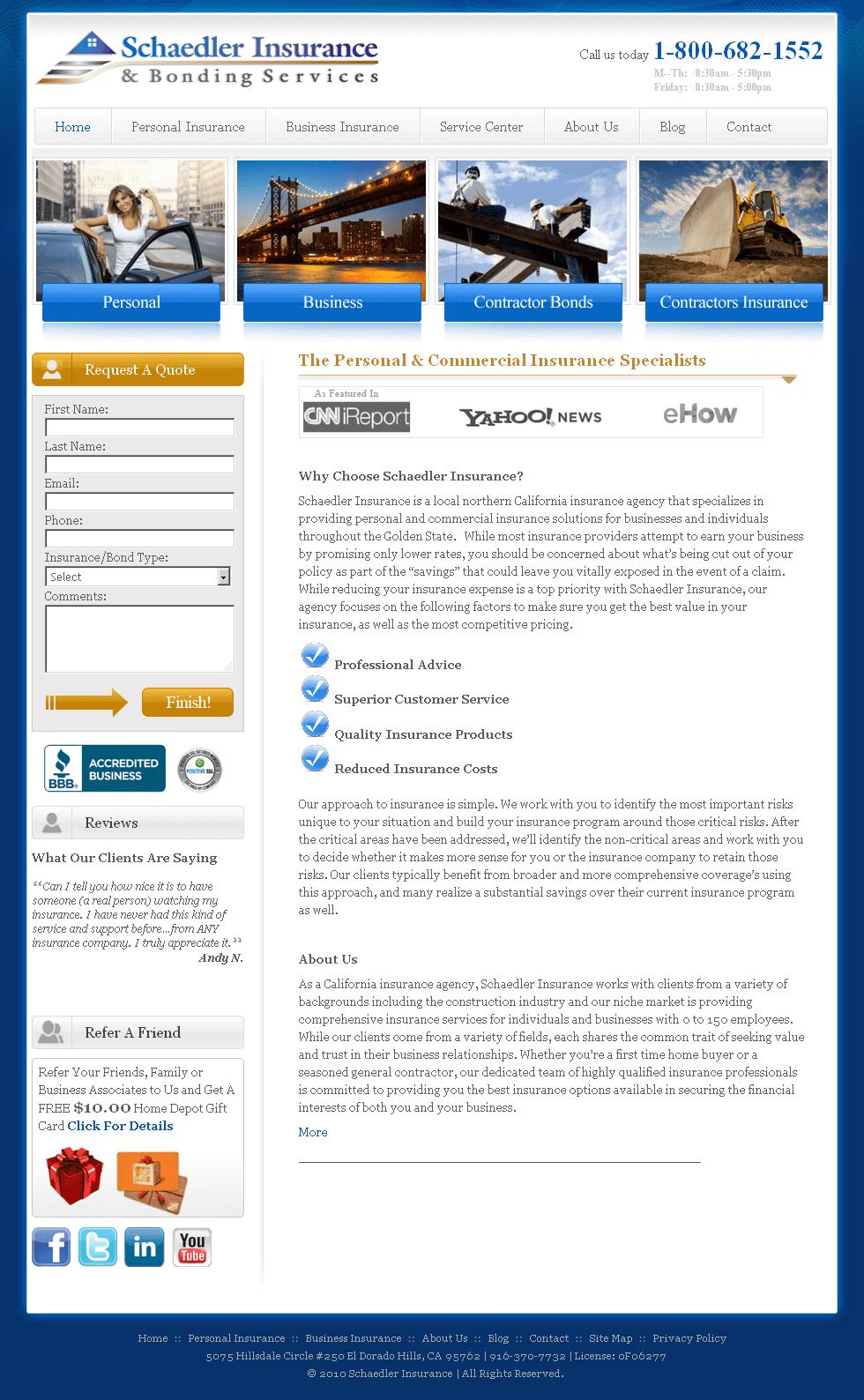 A Website of an Insurance Agency