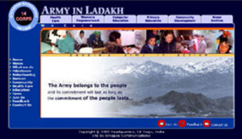 PHP Based Website Development - Army in Ladakh