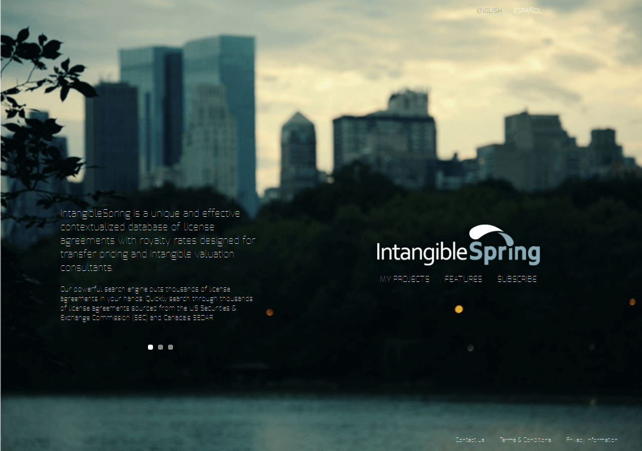 PHP Website for 'IntangibleSpring' - Data Analytics Consulting