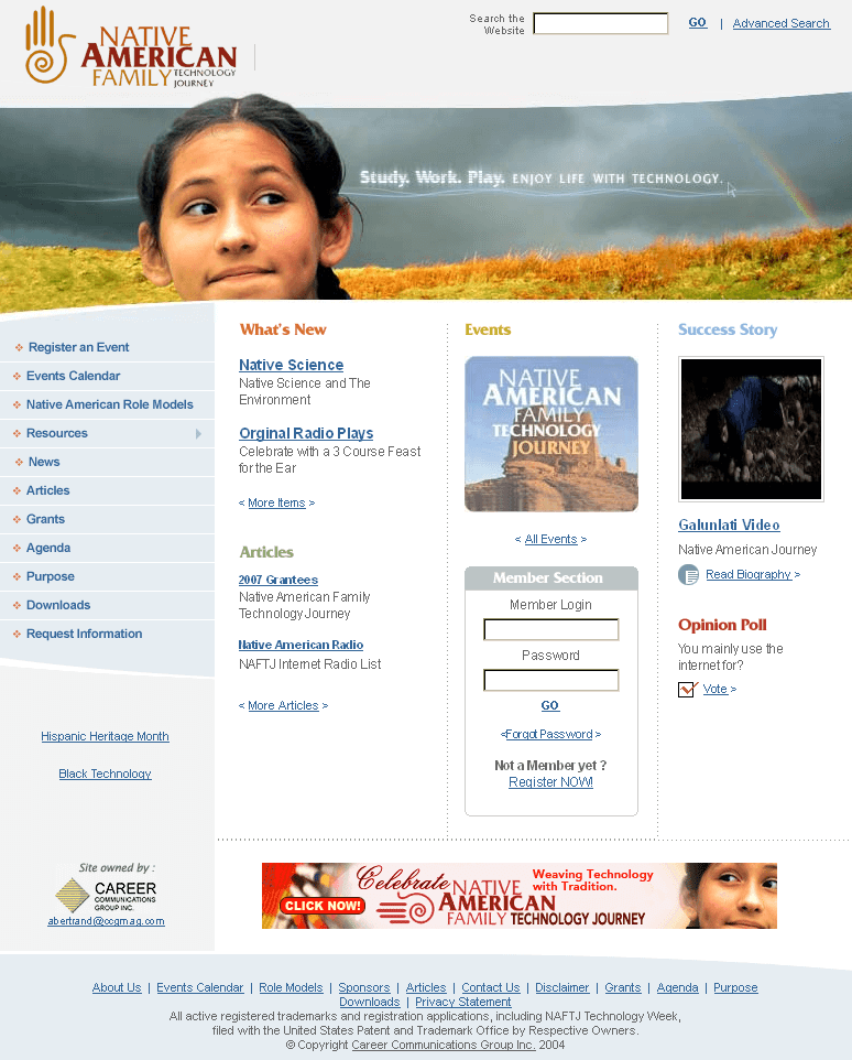 A Website of an Educational Institute