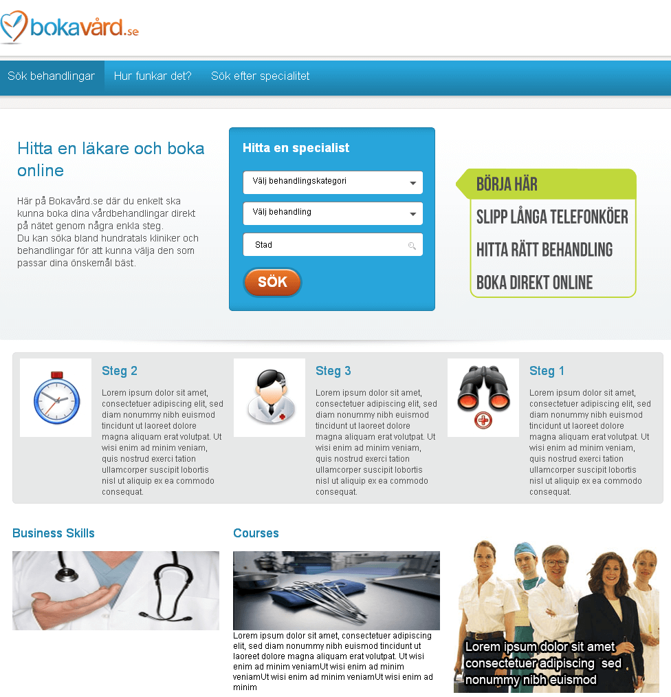 PHP Website for Healthcare 'bokavard' – Treatment Facility