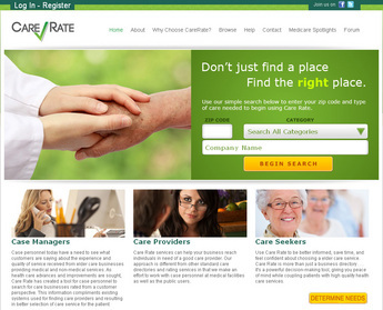 PHP Website for Healthcare Service Provider 'carerate'