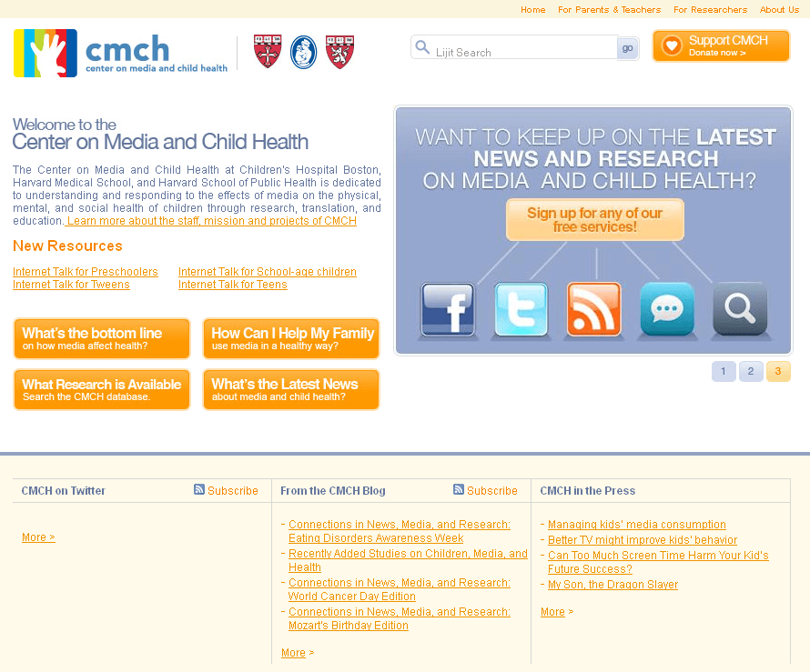 PHP Website for Healthcare 'CMCH' – Media & Child Health Center