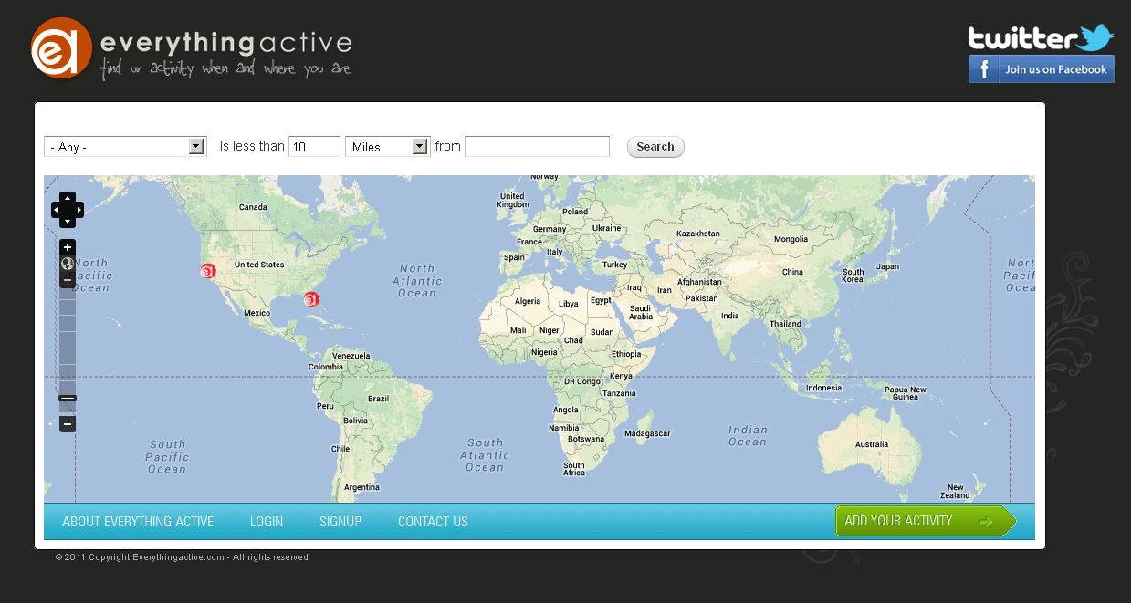 PHP Website for Healthcare 'everythingactive' – Fitness Trainer