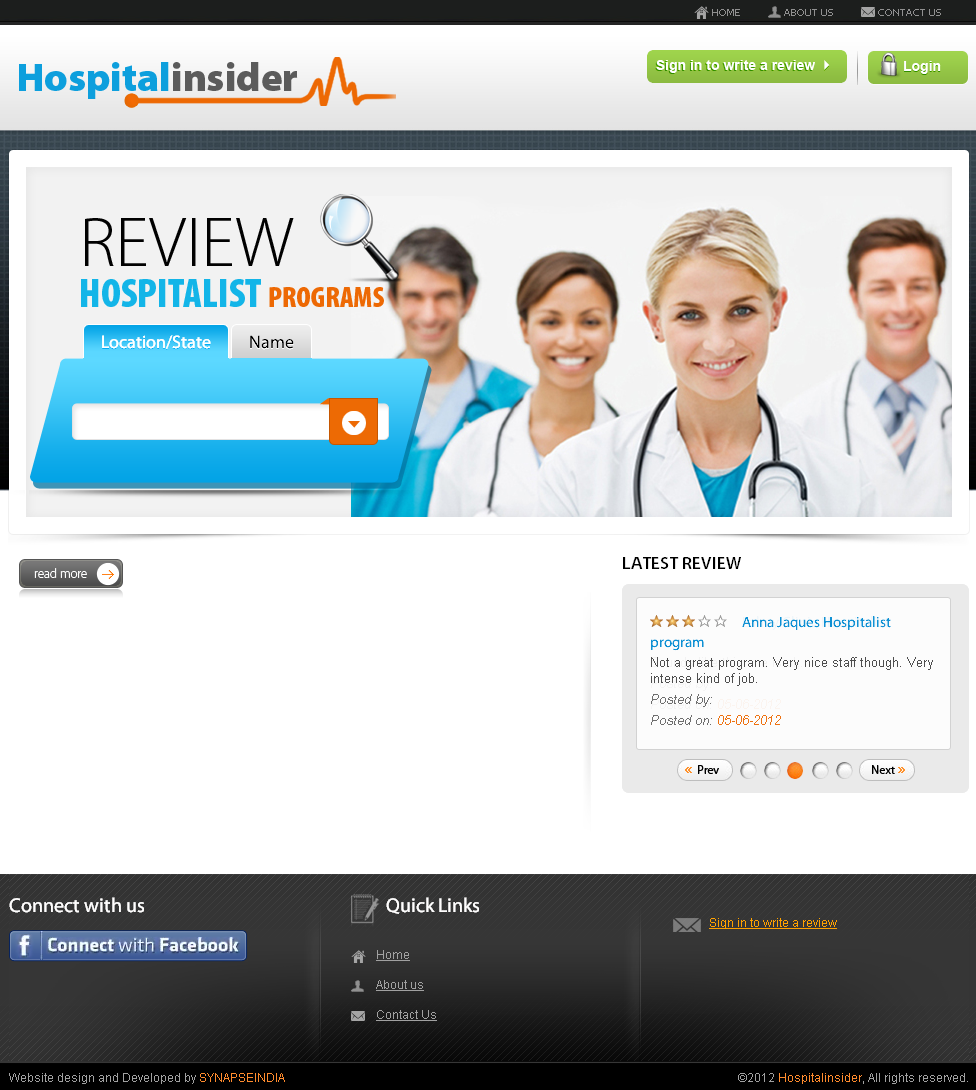 PHP Website for Healthcare 'Hospital Insider' –Listing & Review