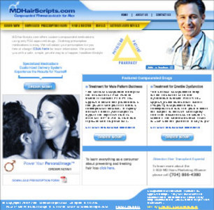 PHP Website for Healthcare 'MDHairScripts' – Prescription Drugs