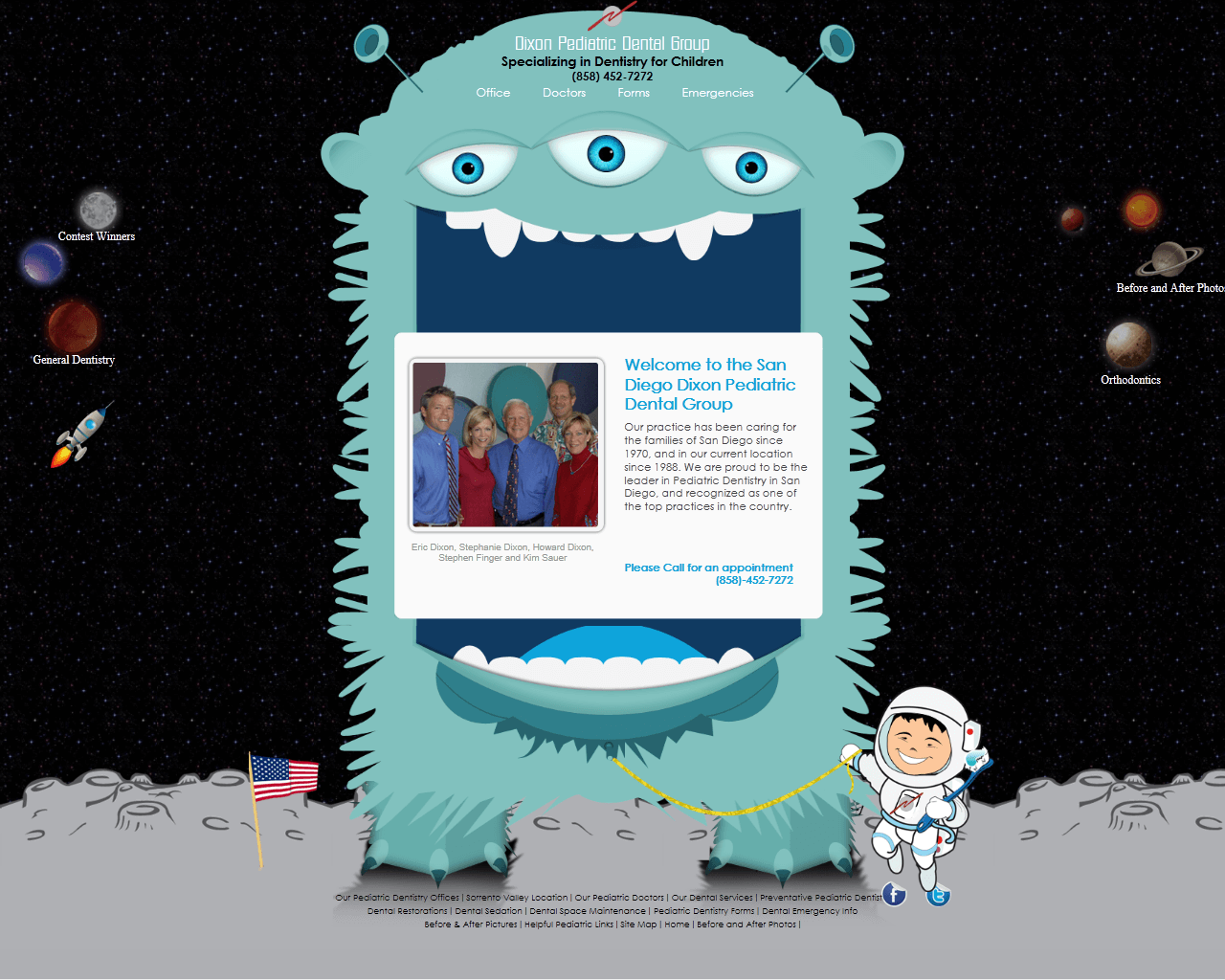 PHP Website for Healthcare 'Oixon' – Pediatric Dental Group