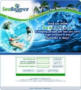 PHP Website for Online Health Supplement Seller 'SeaBalance'