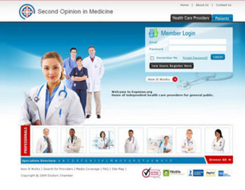 PHP Website for Healthcare Services 'Second Opinion in Medicine'