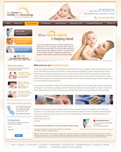 PHP Website for Healthcare 'The Fertility' – Gynecology Center