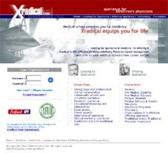 PHP Website for Medical Professionals 'Xradical' – Jobs & Research