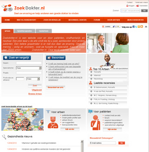 PHP Based Healthcare Website - Zoek Dokter