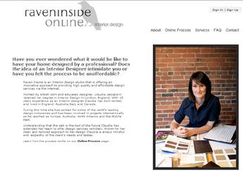 PHP Website for Interior Designer 'Raven Inside Online'