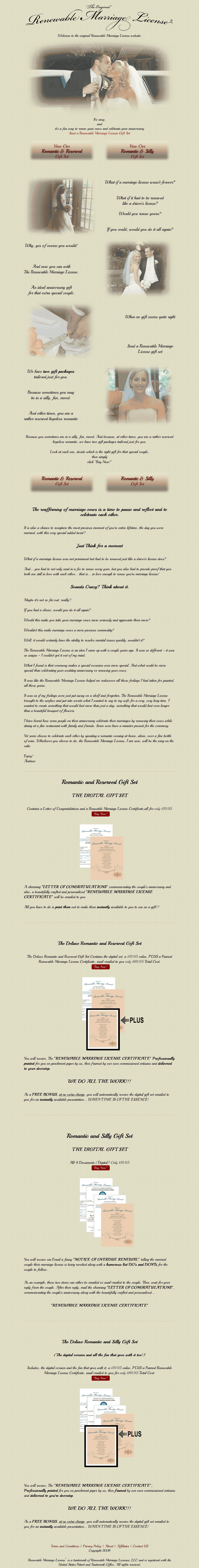 PHP Website for Marriage License Renewal Service 'RML'