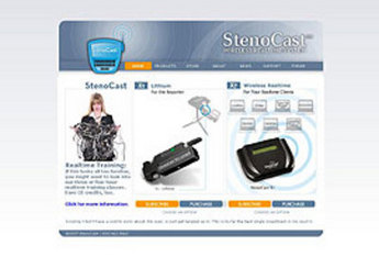 PHP Website for Legal 'StenoCast' - Court Reporter/Stenographer