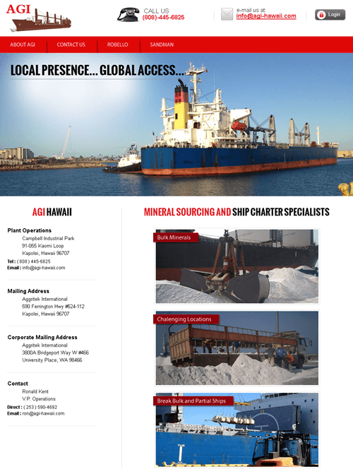 PHP Website for Logistics 'AIL' - Transportation Service