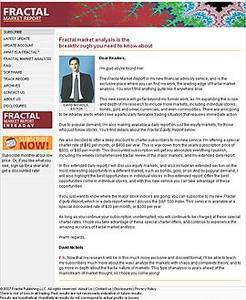Website for Market Analyst 'Fractal Market Report' Using PHP