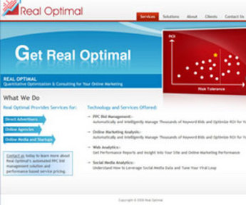 Website for Digital Consulting Firm 'RealOptimal' Using PHP