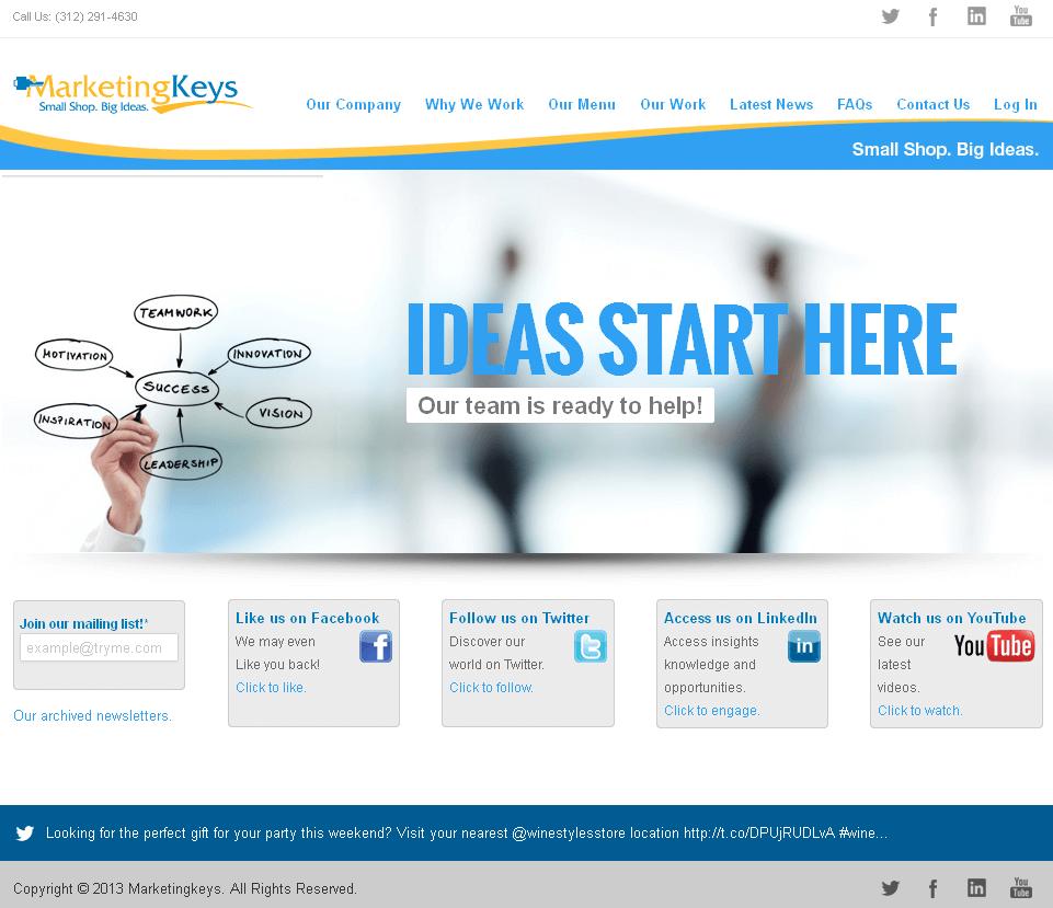 Website for 'MarketingKeys' Using PHP - Advertising Agency
