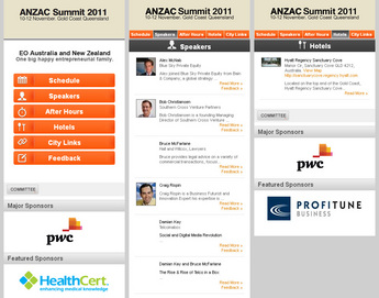 Website for Events Listing Platform 'ANZAC Summit' Using PHP