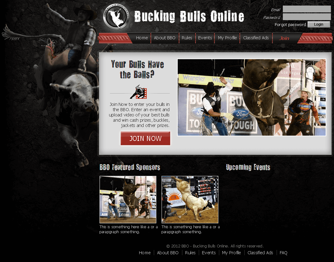 A Website for Bull Fight Events