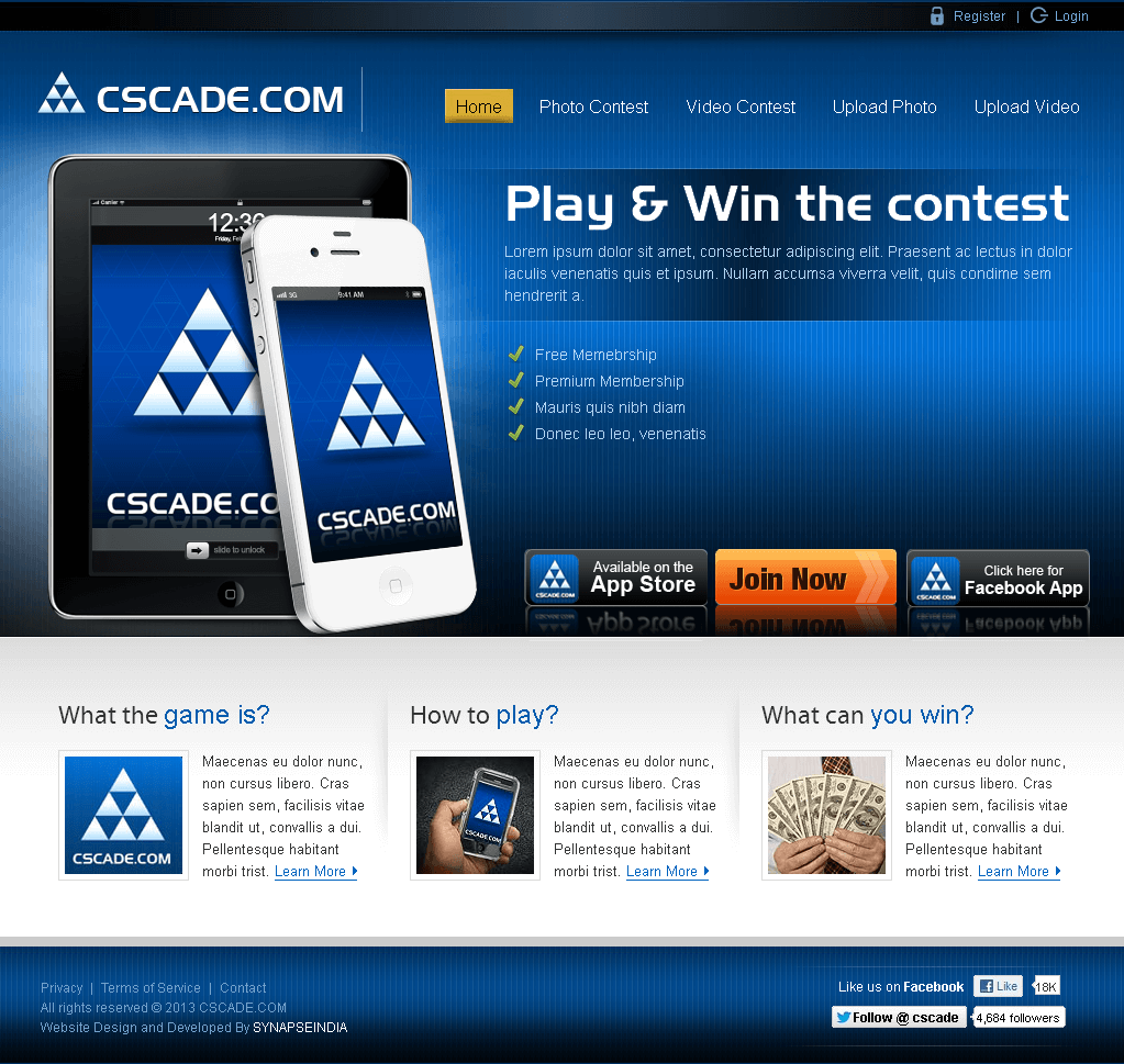 Website for Photo & Video Sharing Platform 'Cscade' Using PHP