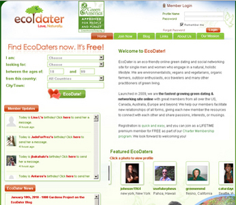 Online Green Dating and Social Networking Site